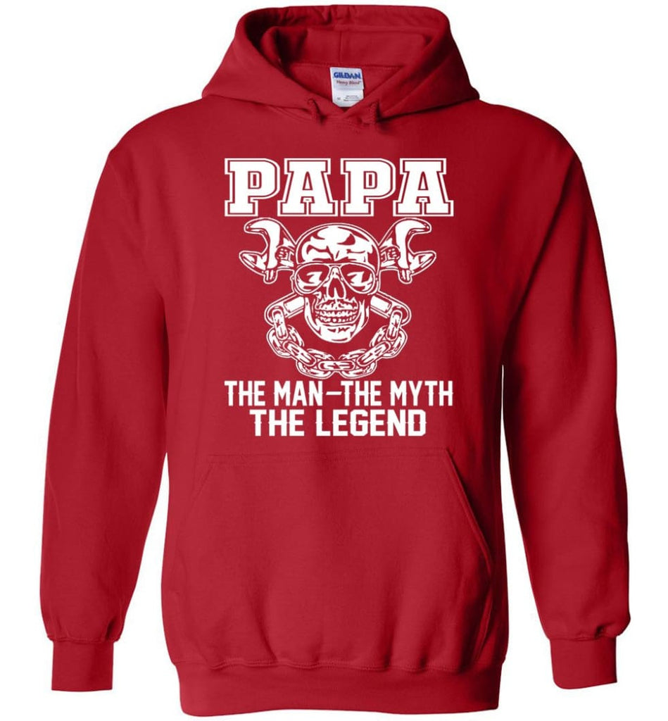 Papa Legend Shirt The Man The Myth The Legend - Hoodie - Red / M