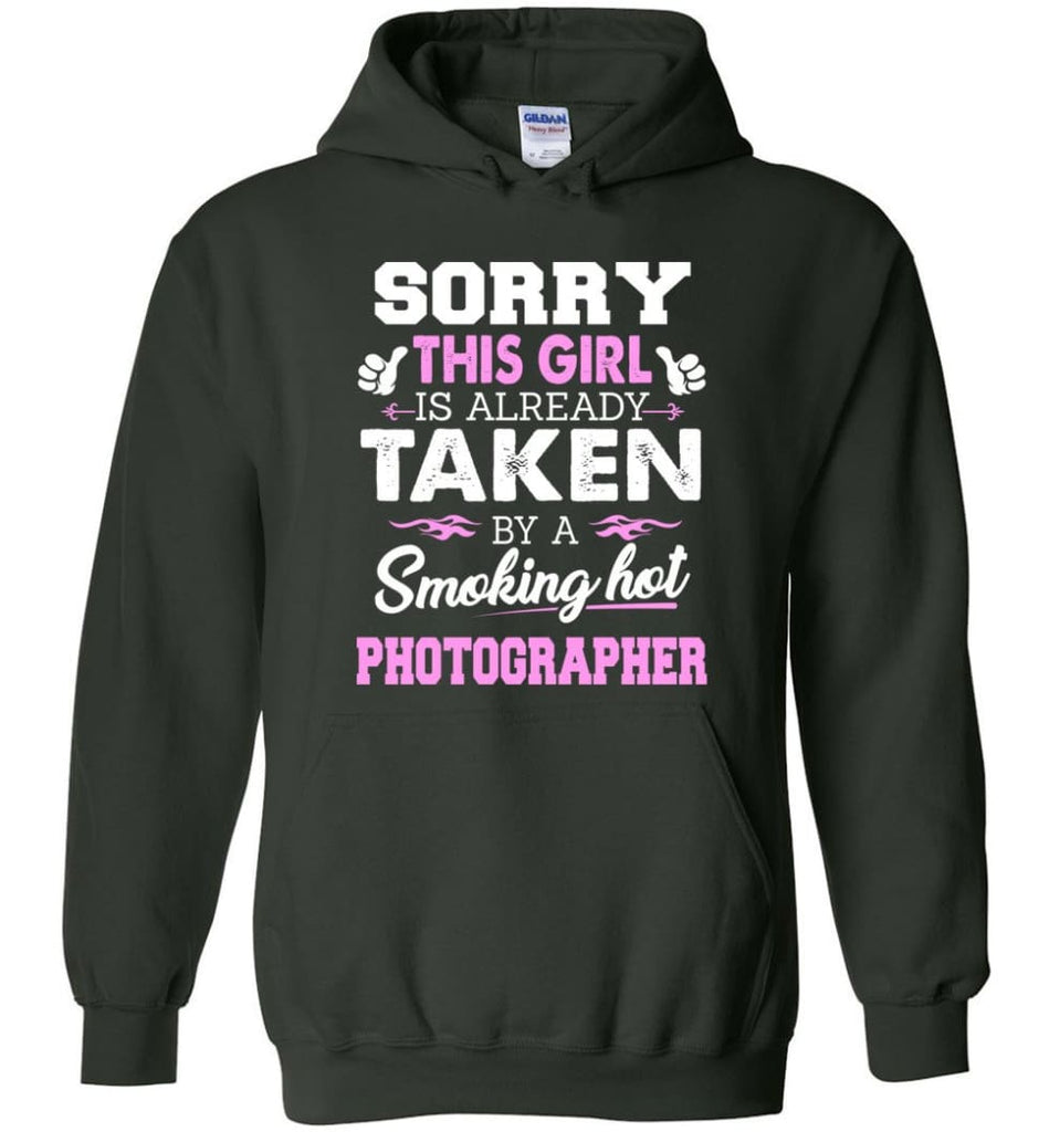 Photographer Shirt Cool Gift For Girlfriend Wife Hoodie - Forest Green / M