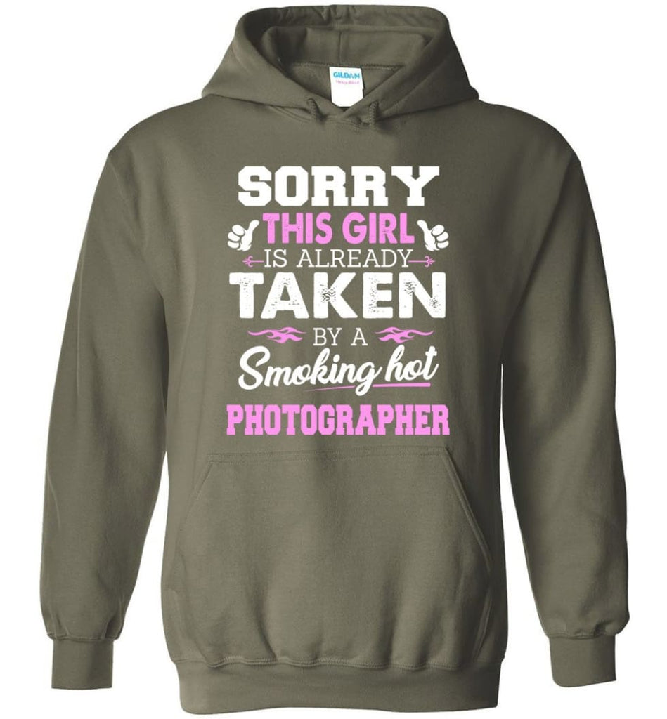 Photographer Shirt Cool Gift For Girlfriend Wife Hoodie - Military Green / M