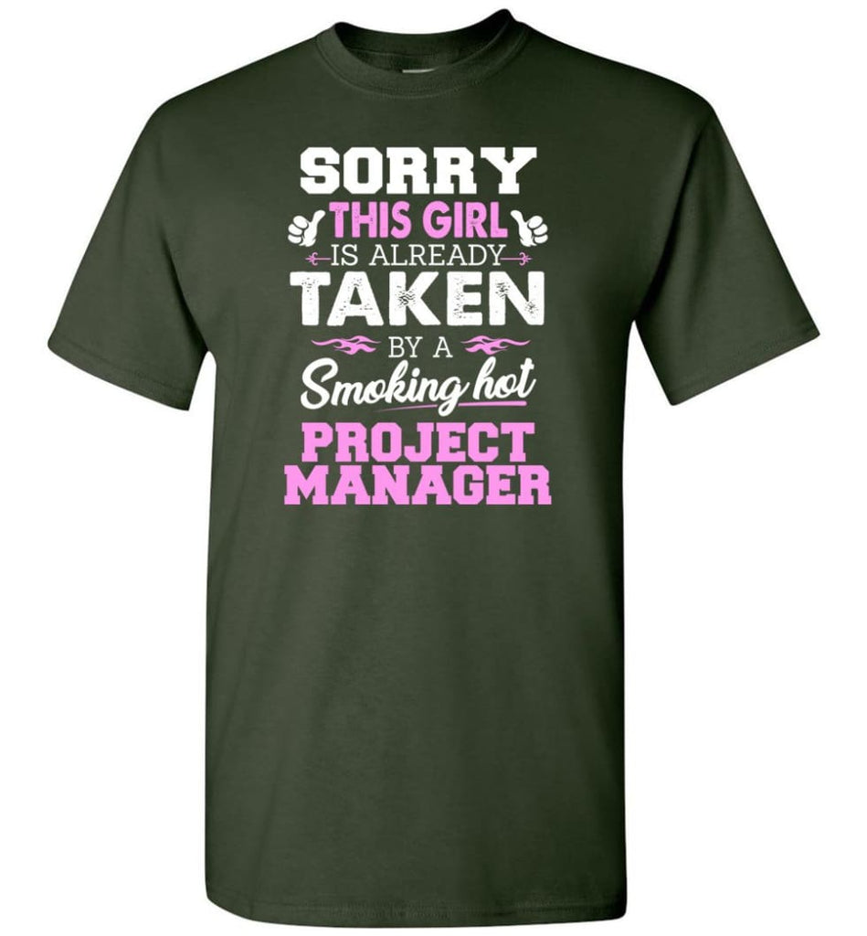 Project Manager Shirt Cool Gift For Girlfriend Wife T-Shirt - Forest Green / S
