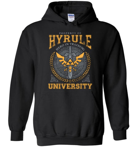 Property Of Hyrule Hero in Training University Link Zelda Shirt and Hoodie - Black / M