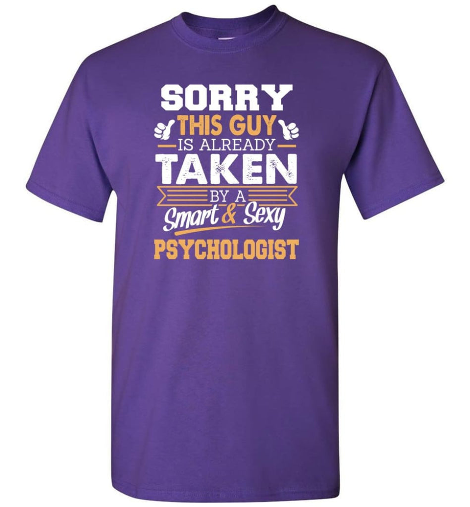 Psychologist Shirt Cool Gift for Boyfriend Husband or Lover - Short Sleeve T-Shirt - Purple / S