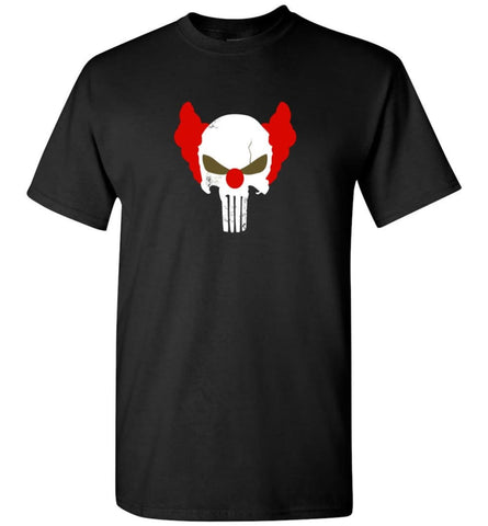 Punisher Red Skull Shirt Vintage Punisher Joker Clown Shirt Punisher Patriots T-Shirt - Black / S