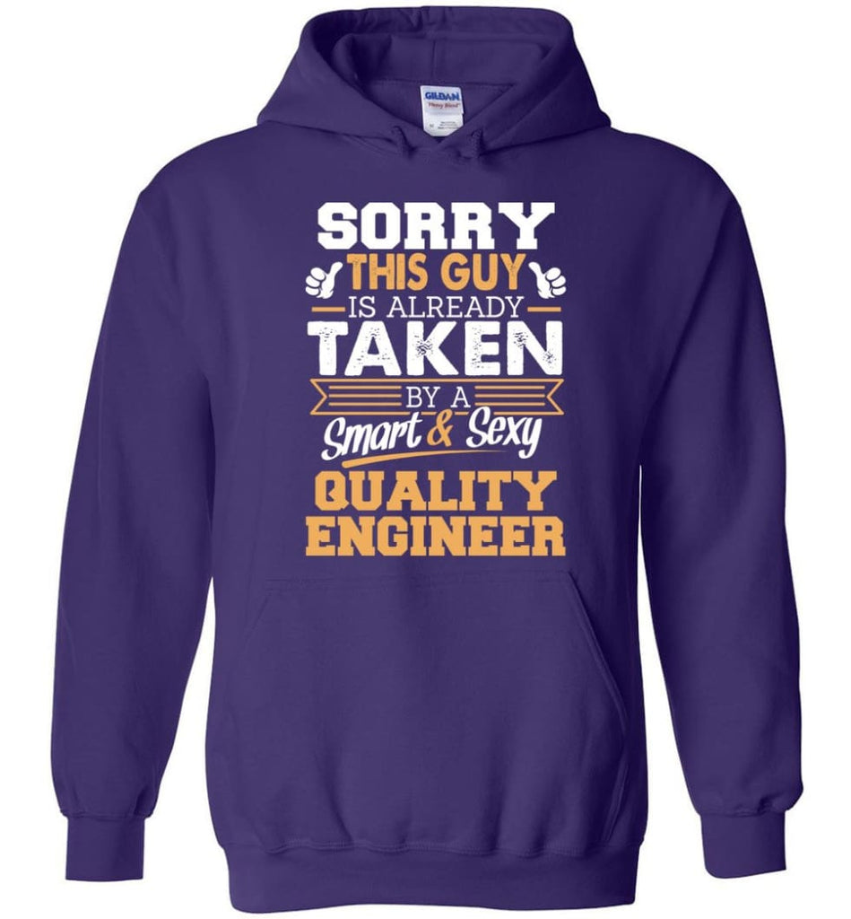 Quality Engineer Shirt Cool Gift for Boyfriend Husband or Lover - Hoodie - Purple / M