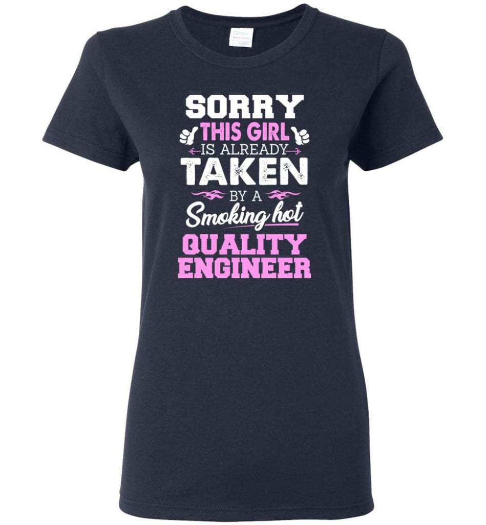 Quality Engineer Shirt Cool Gift for Girlfriend Wife or Lover Women Tee - Navy / M - 8
