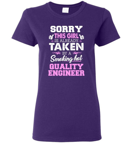 Quality Engineer Shirt Cool Gift for Girlfriend Wife or Lover Women Tee - Purple / M - 8