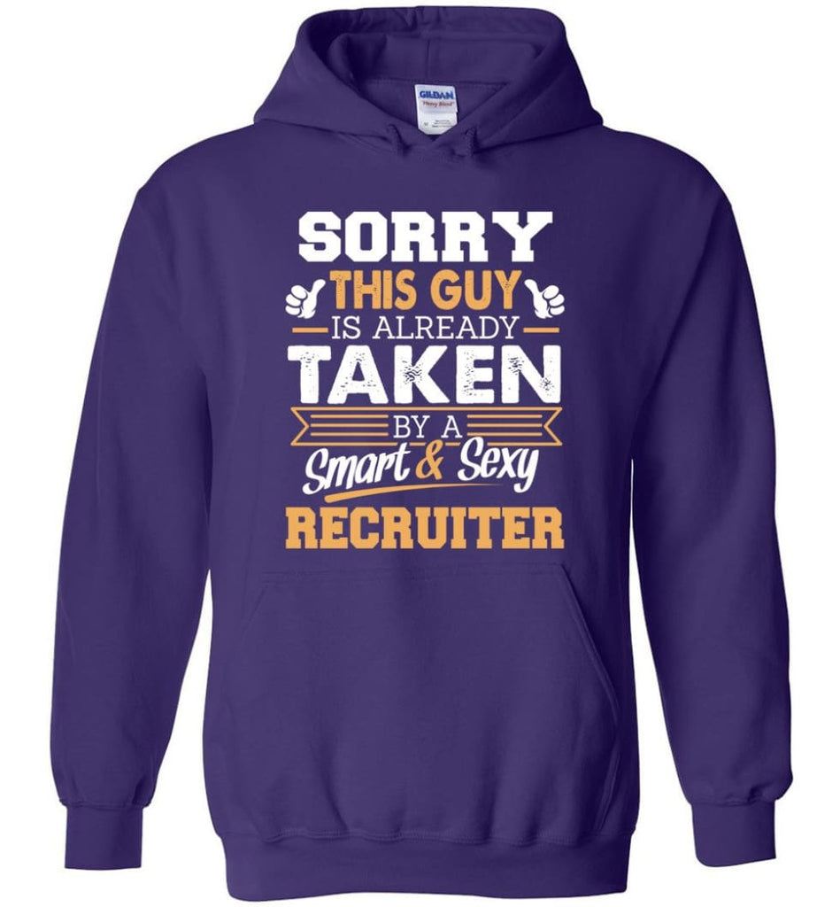Recruiter Shirt Cool Gift for Boyfriend Husband or Lover - Hoodie - Purple / M