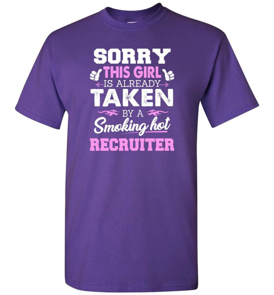 Recruiter Shirt Cool Gift for Girlfriend Wife or Lover - Short Sleeve T-Shirt - Purple / S