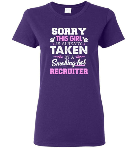 Recruiter Shirt Cool Gift for Girlfriend Wife or Lover Women Tee - Purple / M - 10