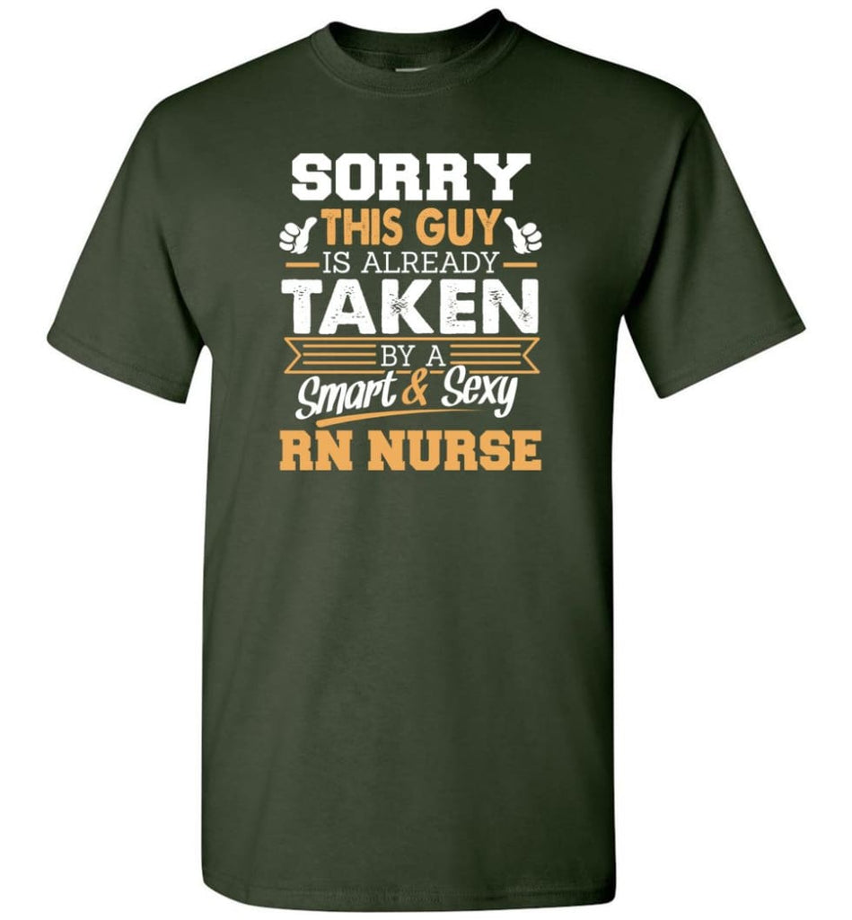 Rn Nurse Shirt Cool Gift for Boyfriend Husband or Lover - Short Sleeve T-Shirt - Forest Green / S