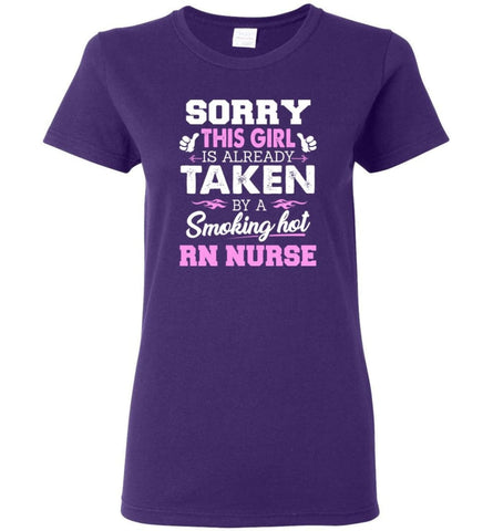 Rn Nurse Shirt Cool Gift for Girlfriend Wife or Lover Women Tee - Purple / M - 3