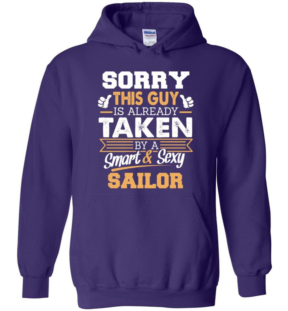Sailor Shirt Cool Gift For Boyfriend Husband Hoodie - Purple / M