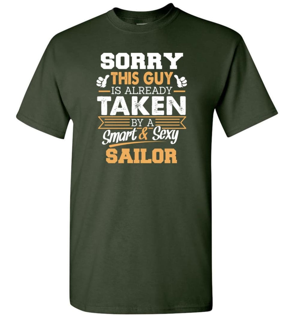 Sailor Shirt Cool Gift for Boyfriend Husband or Lover - Short Sleeve T-Shirt - Forest Green / S