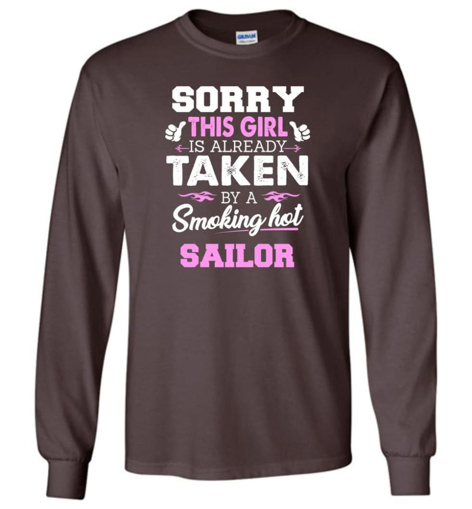 Sailor Shirt Cool Gift for Girlfriend Wife or Lover - Long Sleeve T-Shirt - Dark Chocolate / M