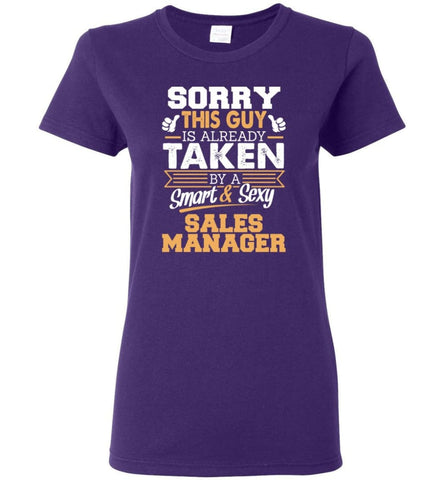 Sales Manager Shirt Cool Gift for Boyfriend Husband or Lover Women Tee - Purple / M - 6