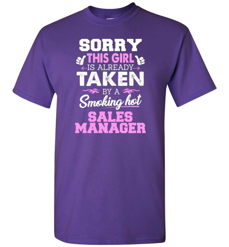 Sales Manager Shirt Cool Gift For Girlfriend Wife T-Shirt - Purple / S