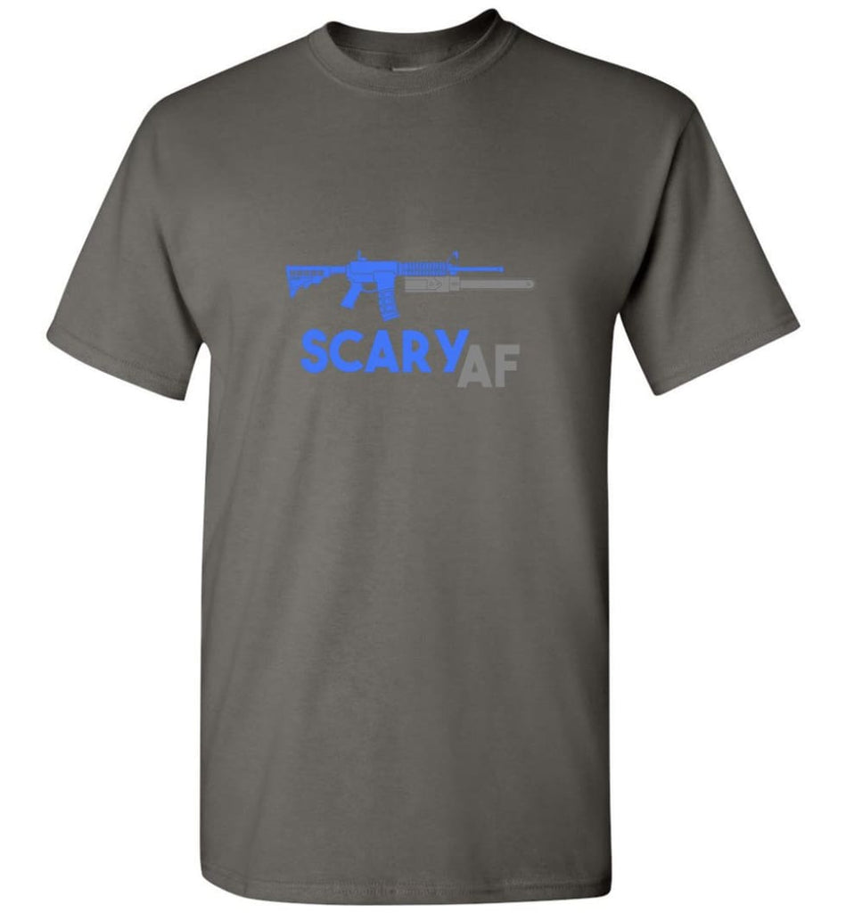 Scary AF Shirt Evil Assault Rifle AR 15 Gun Version - T-Shirt - Charcoal / S