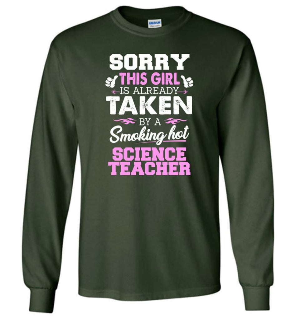 Science Teacher Shirt Cool Gift for Girlfriend Wife or Lover - Long Sleeve T-Shirt - Forest Green / M