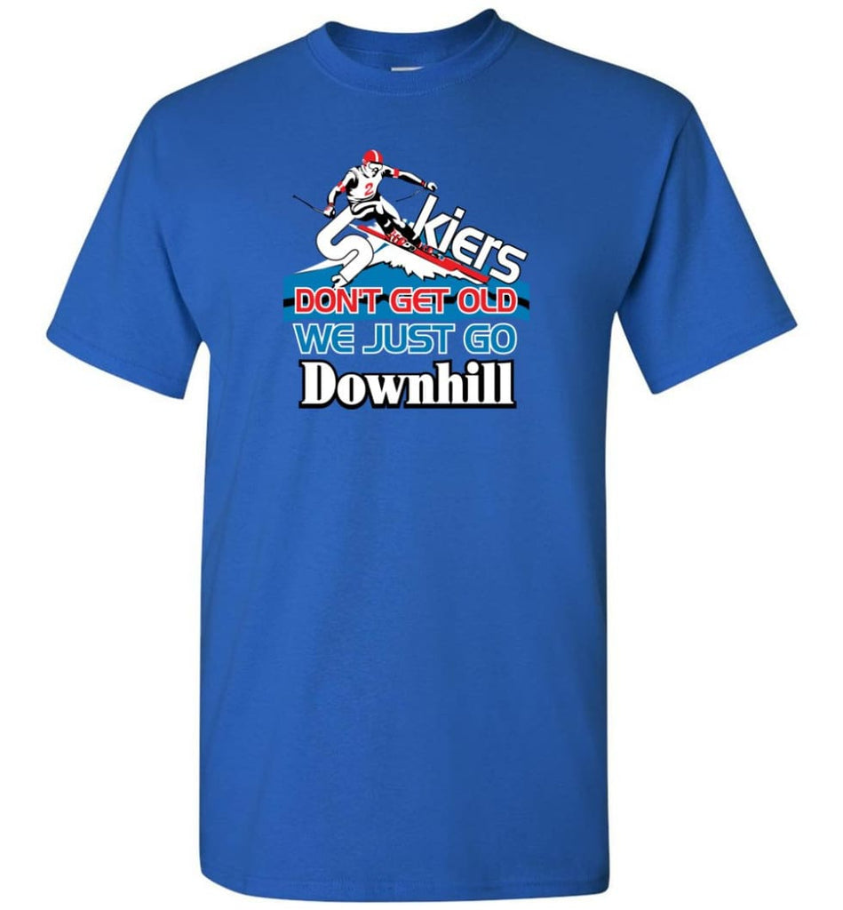 Skiers Don't Get Old We Just Go Downhill T-Shirt - Royal / S