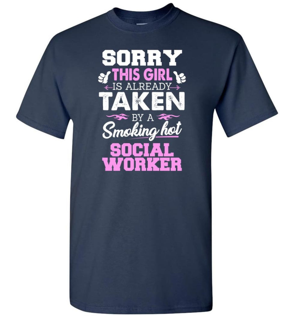 Social Worker Shirt Cool Gift for Girlfriend Wife or Lover - Short Sleeve T-Shirt - Navy / S