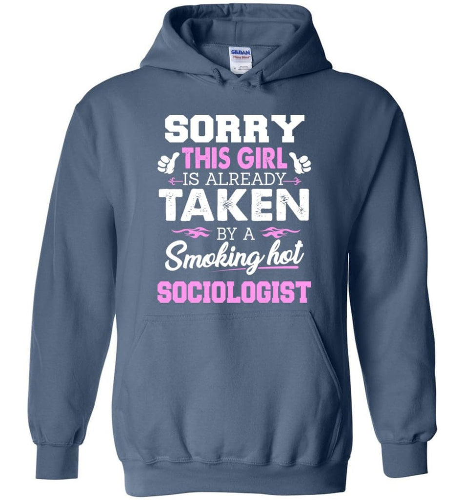 Sociologist Shirt Cool Gift For Girlfriend Wife Hoodie - Indigo Blue / M
