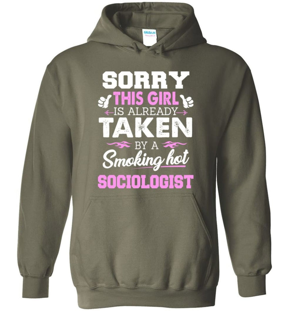 Sociologist Shirt Cool Gift For Girlfriend Wife Hoodie - Military Green / M