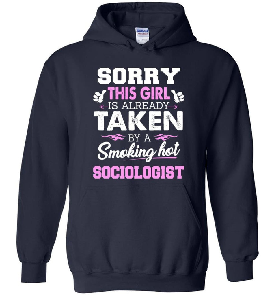 Sociologist Shirt Cool Gift For Girlfriend Wife Hoodie - Navy / M