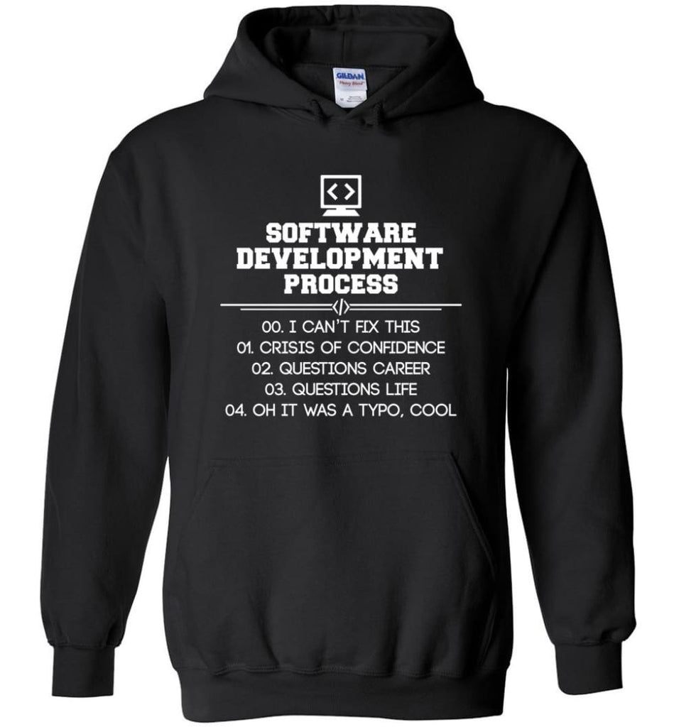 Software Development Process Funny Programming Hoodie - Black / M