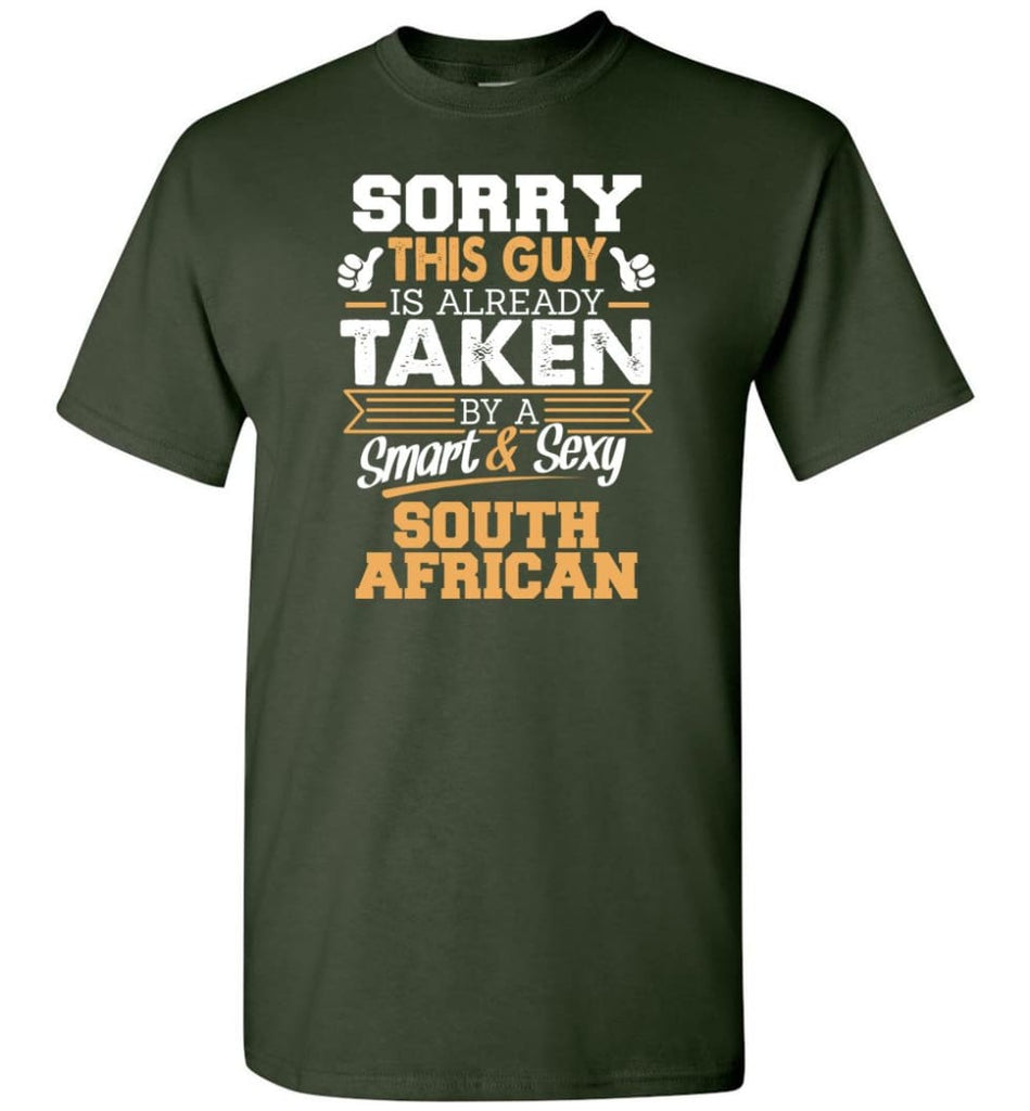South African Shirt Cool Gift for Boyfriend Husband or Lover - Short Sleeve T-Shirt - Forest Green / S