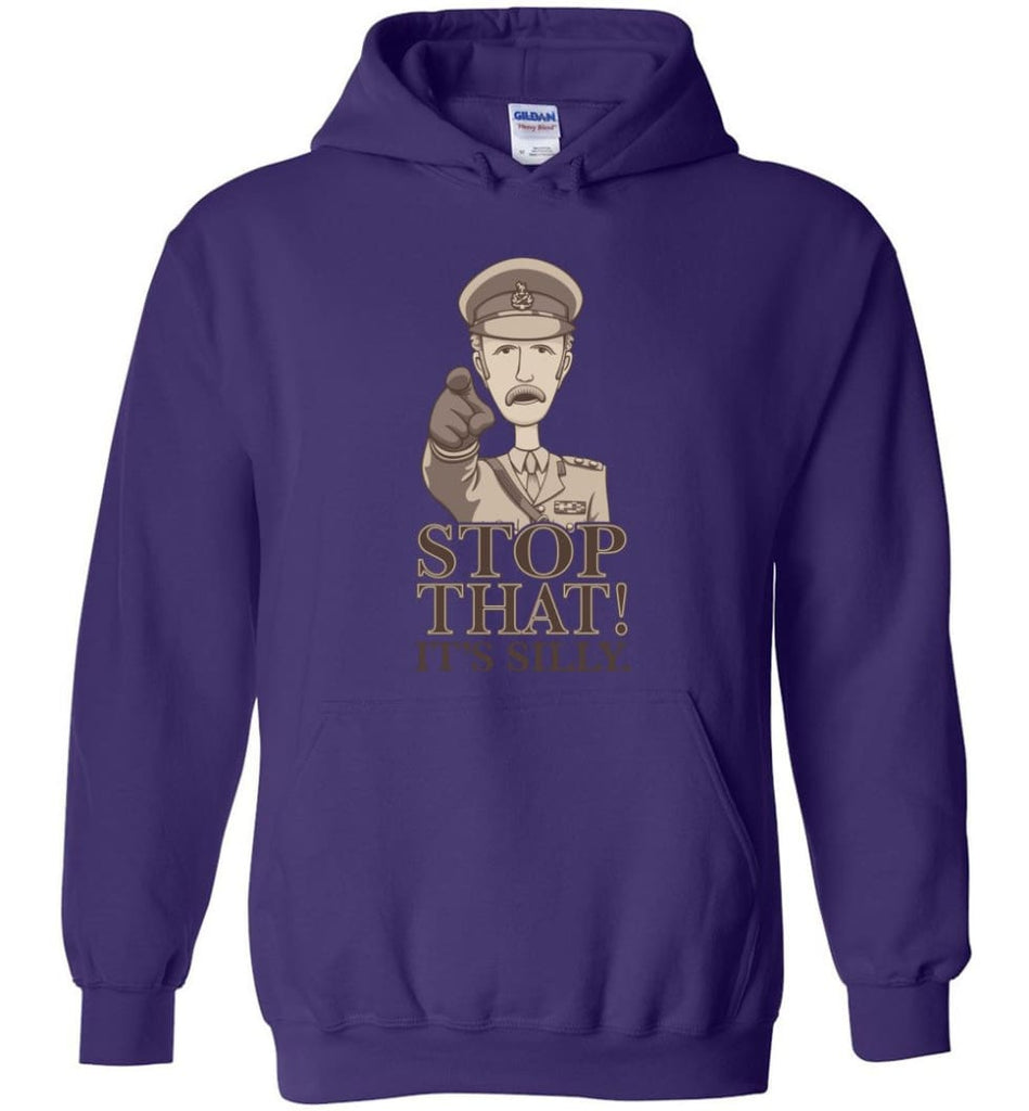 Stop That It's Silly Monty Python T Shirt - Hoodie - Purple / M