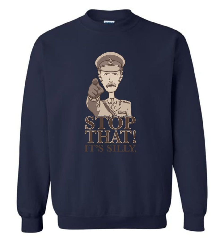 Stop That It'S Silly Monty Python T Shirt Sweatshirt - Navy / M