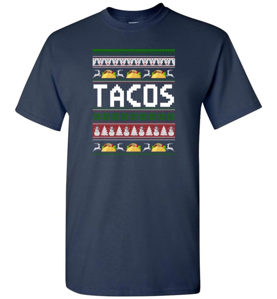 Tacos Ugly Christmas Sweater Sweatshirt Hoodie - T-Shirt - Navy / S