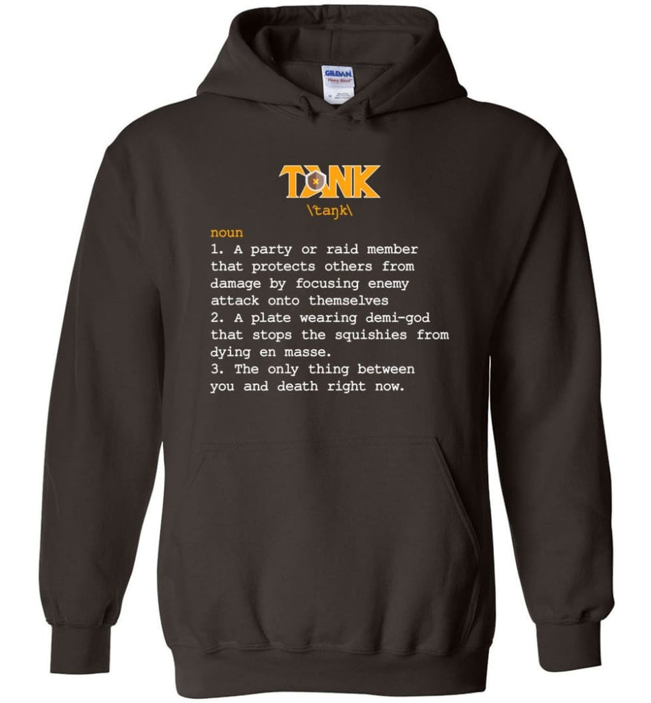Tank Definition Tank Meaning Hoodie - Dark Chocolate / M