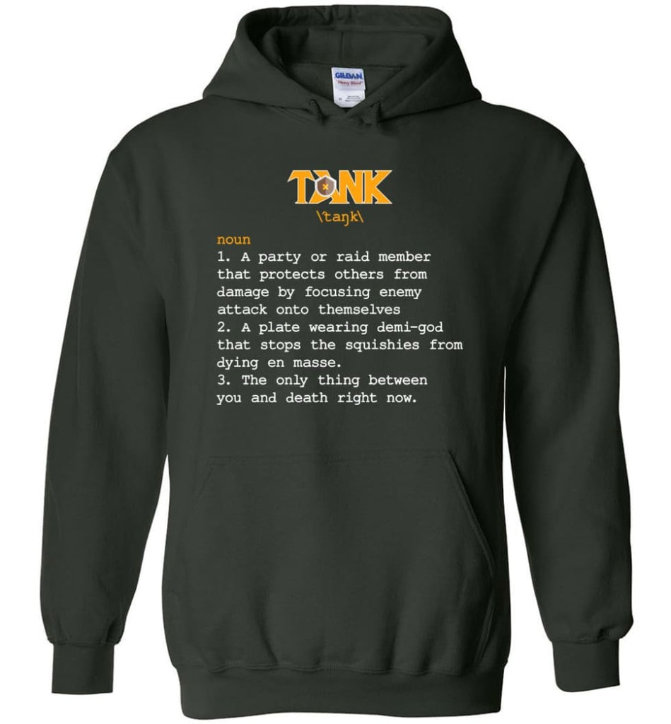 Tank Definition Tank Meaning Hoodie - Forest Green / M