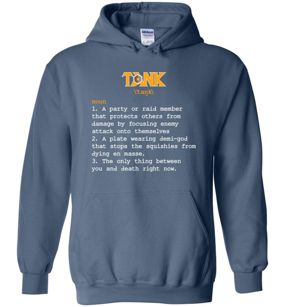 Tank Definition Tank Meaning Hoodie - Indigo Blue / M