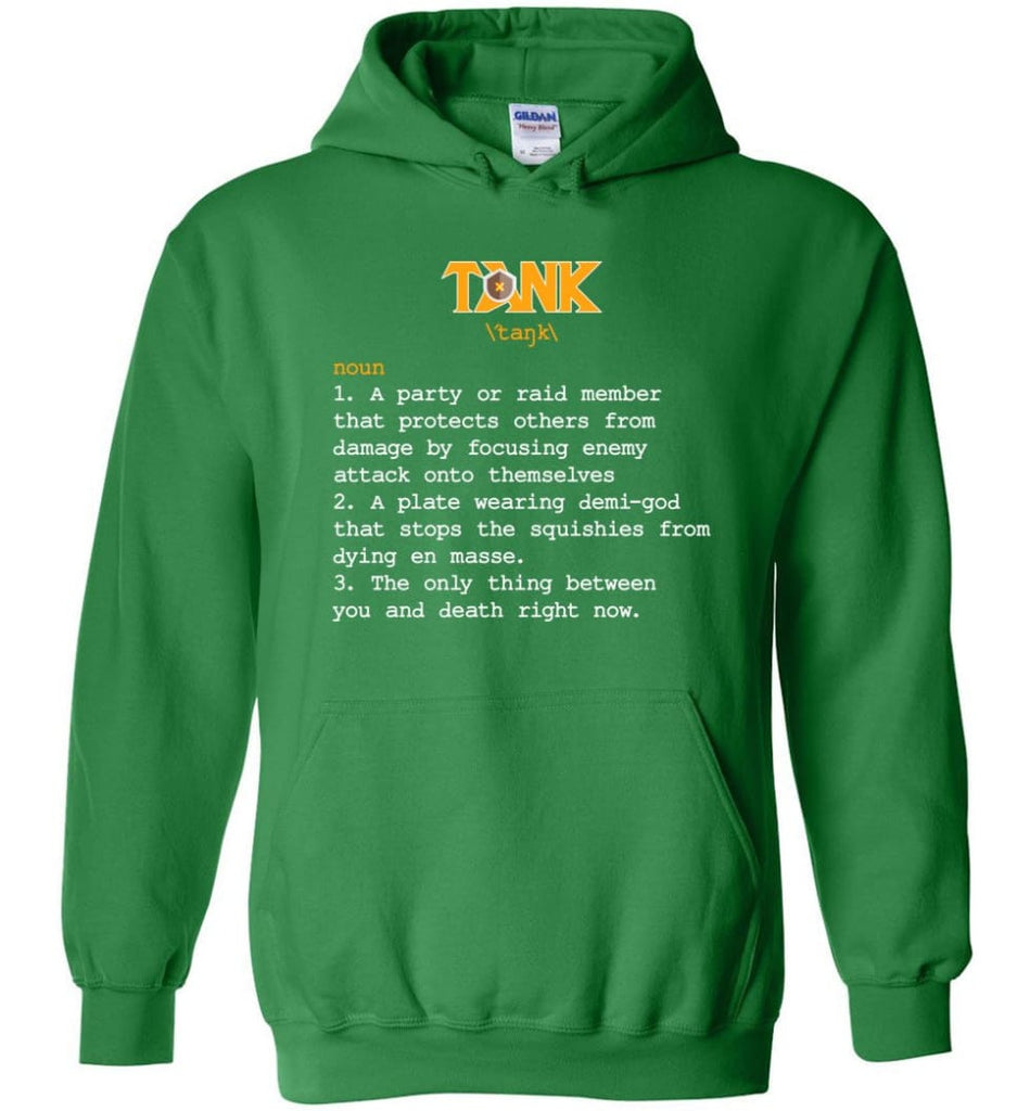 Tank Definition Tank Meaning Hoodie - Irish Green / M