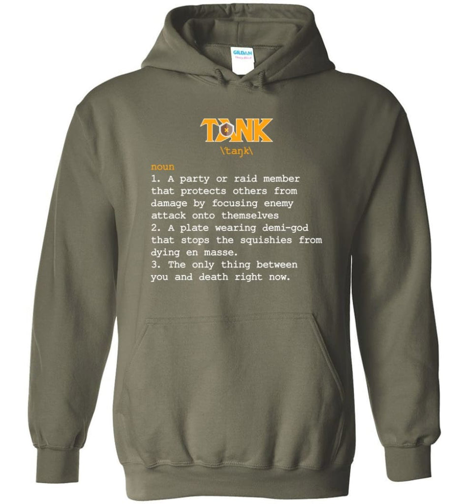 Tank Definition Tank Meaning Hoodie - Military Green / M