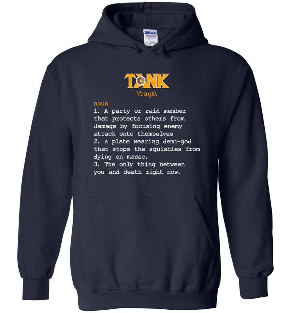 Tank Definition Tank Meaning Hoodie - Navy / M