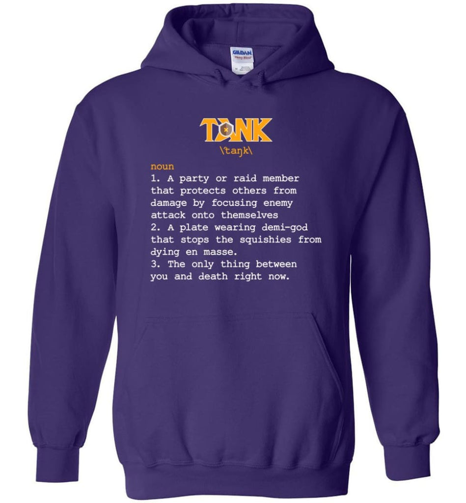 Tank Definition Tank Meaning Hoodie - Purple / M