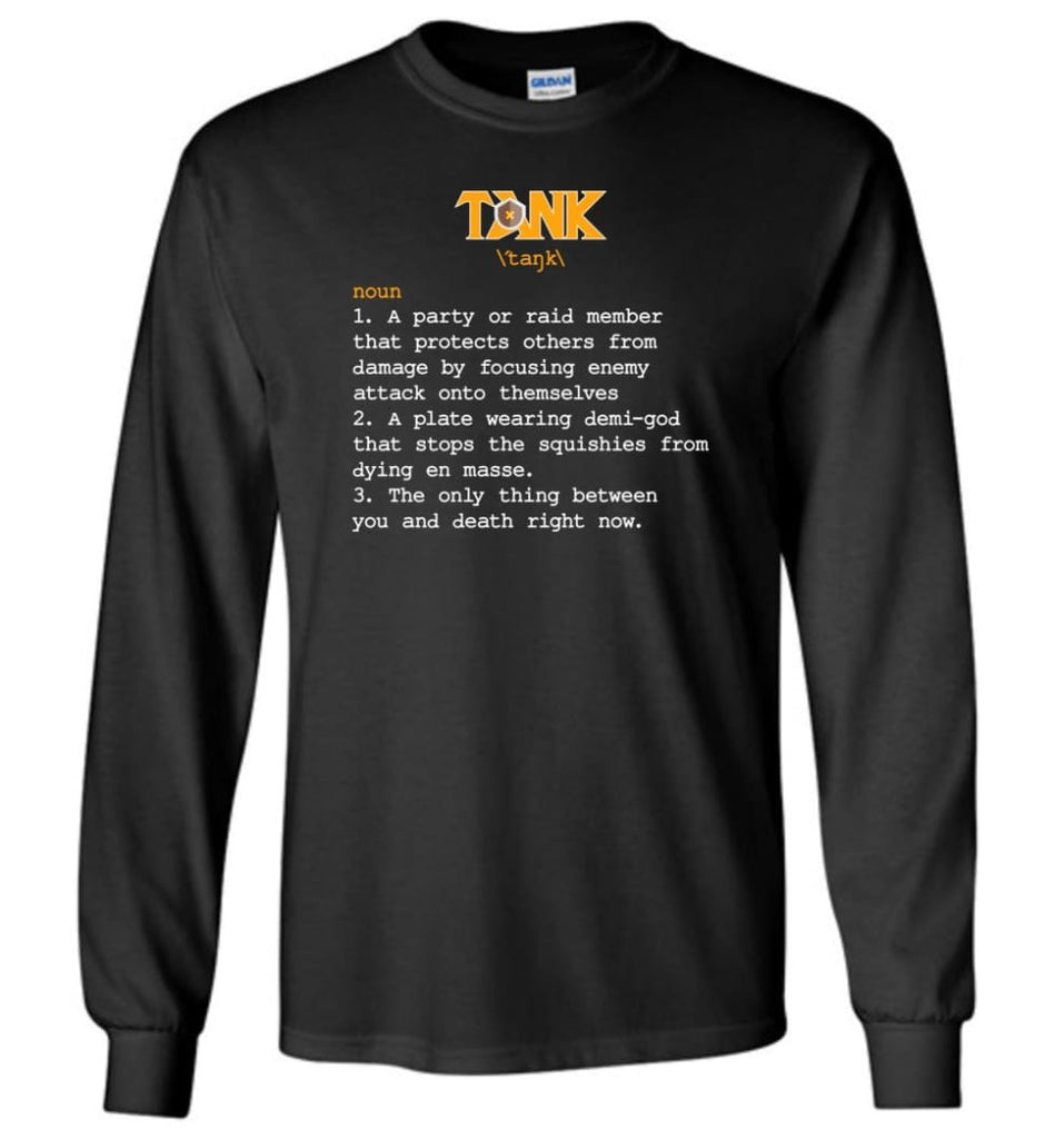 Tank Definition Tank Meaning Long Sleeve T-Shirt - Black / M