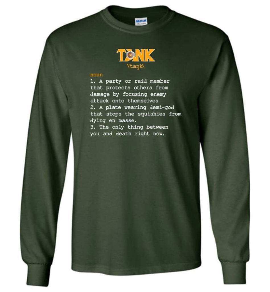 Tank Definition Tank Meaning Long Sleeve T-Shirt - Forest Green / M