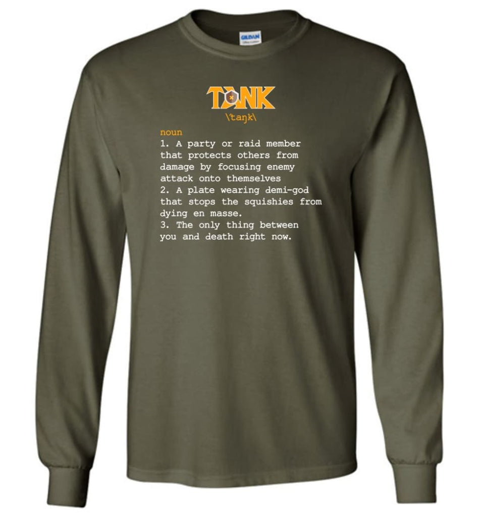 Tank Definition Tank Meaning Long Sleeve T-Shirt - Military Green / M