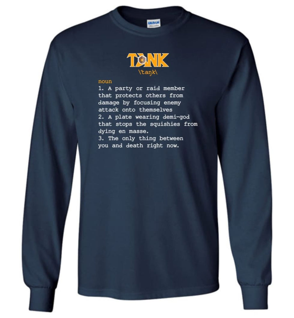 Tank Definition Tank Meaning Long Sleeve T-Shirt - Navy / M