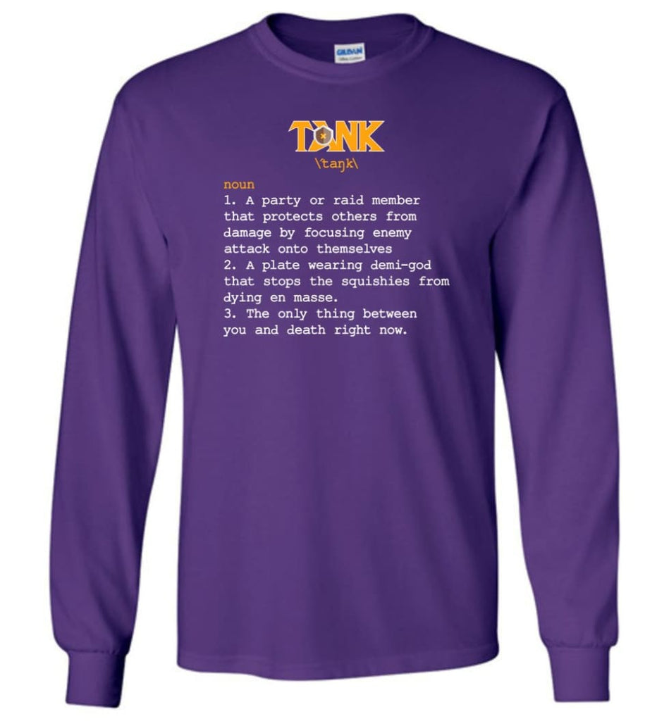 Tank Definition Tank Meaning Long Sleeve T-Shirt - Purple / M