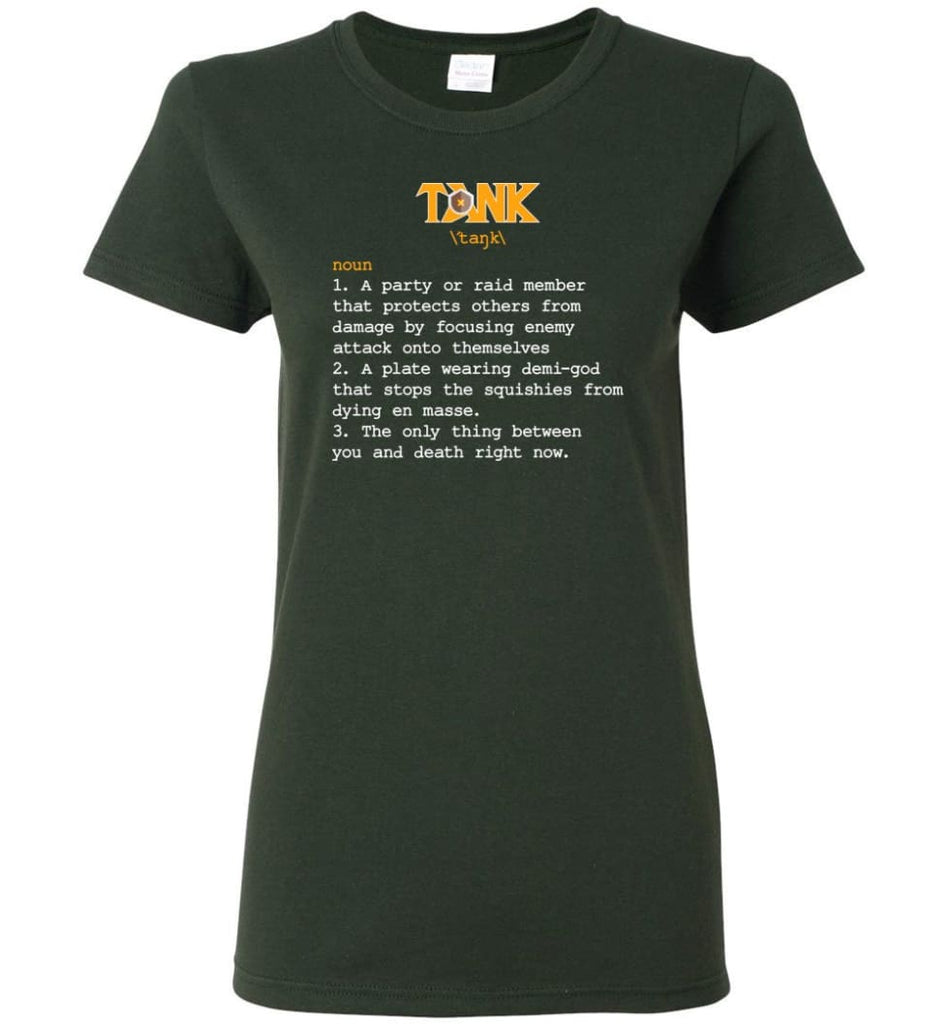 Tank Definition Tank Meaning Women Tee - Forest Green / M