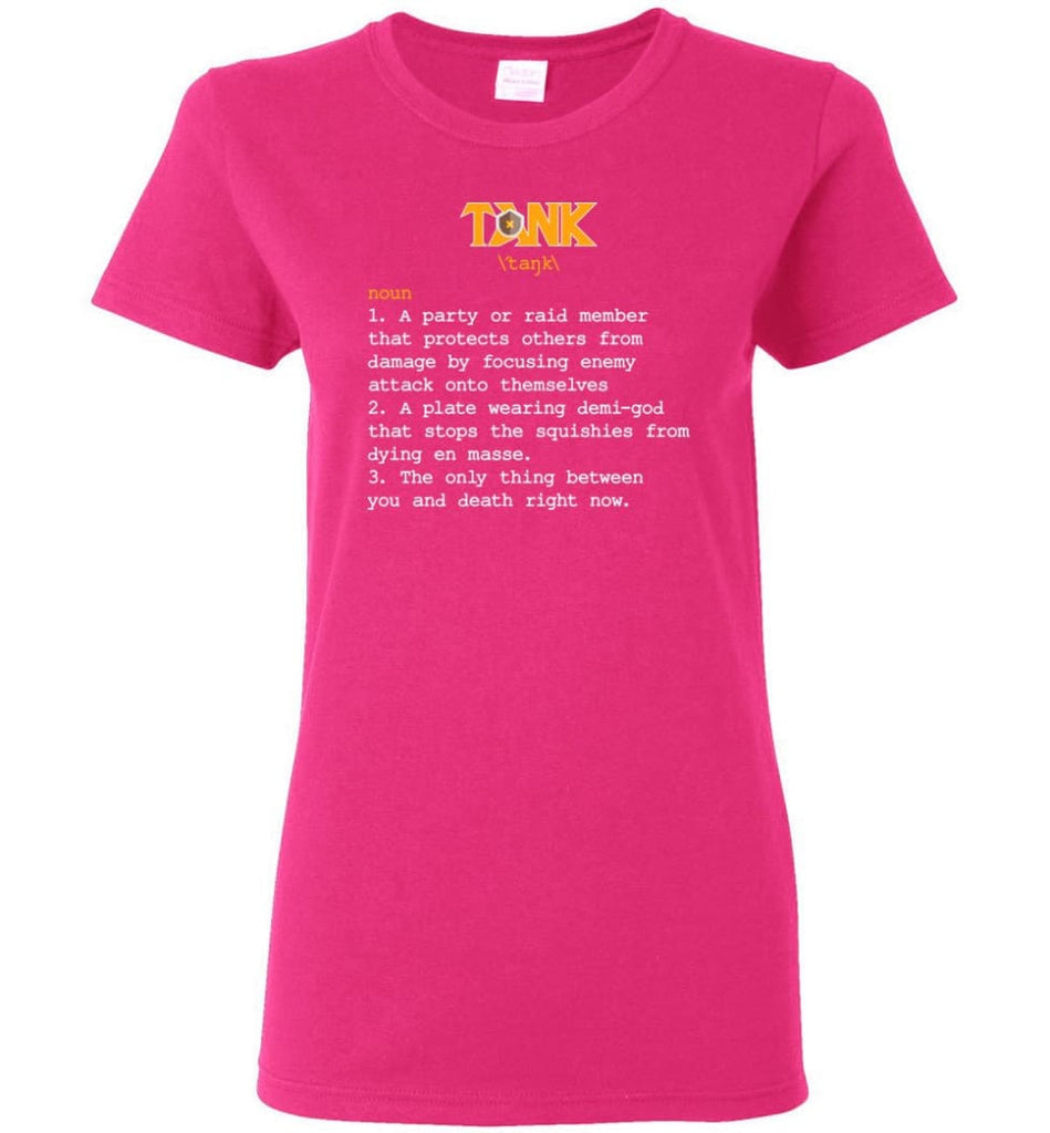 Tank Definition Tank Meaning Women Tee - Heliconia / M