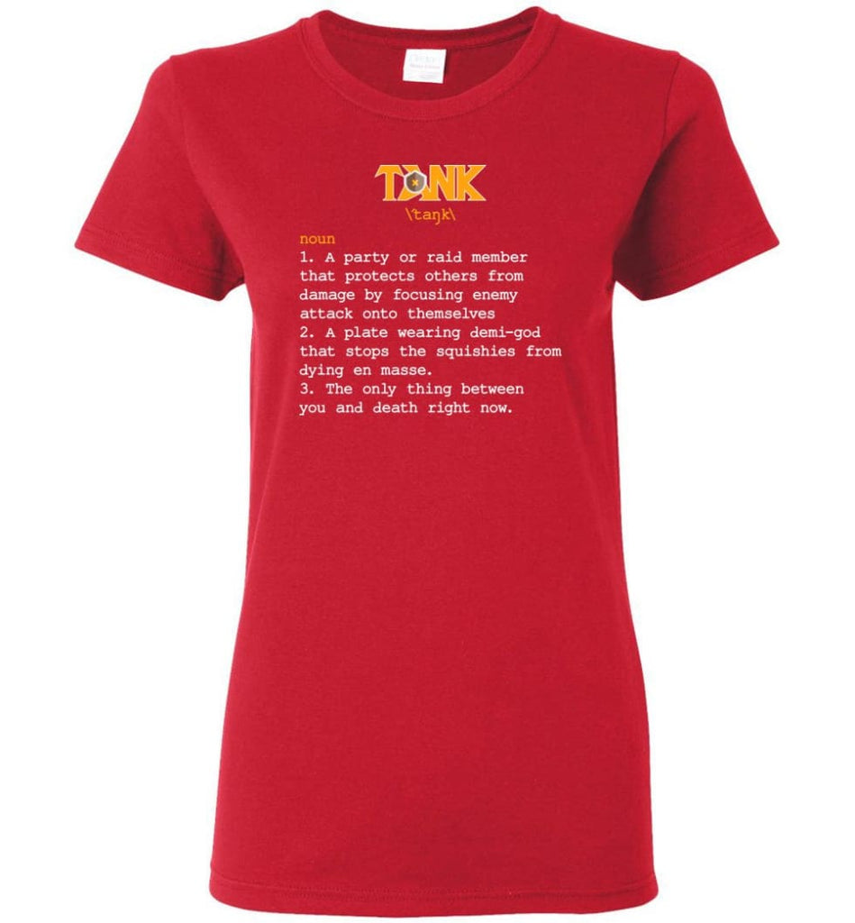 Tank Definition Tank Meaning Women Tee - Red / M