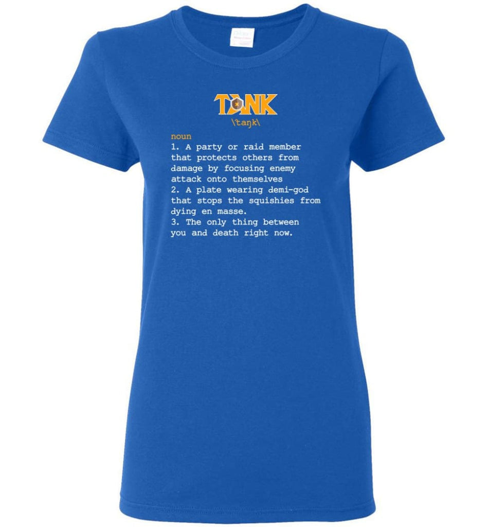 Tank Definition Tank Meaning Women Tee - Royal / M