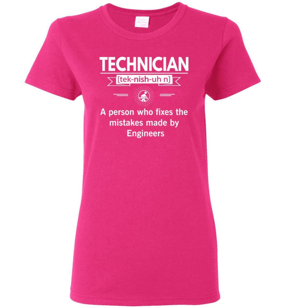 Technician Definition Women Tee - Heliconia / M