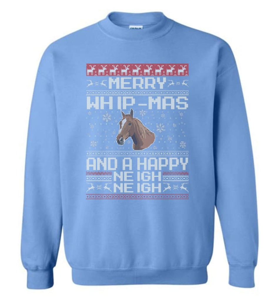 The Merry Whip Mas And Happy Neigh Neigh Shirt Horse Lover Hoodie Horse Christmas Gift Sweater Sweatshirt - Carolina